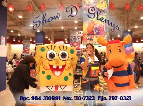Glenys D-Show SpongeBob in Chorrillos