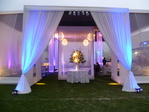Organza fabric awning
