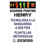 Letrero escaner plantar Henry