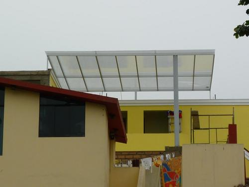 Lightened with POLYCARBONATE ROOF