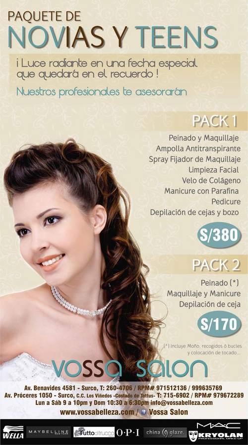 Paquetes de Novia - Quinceaños - Promoción en Lima