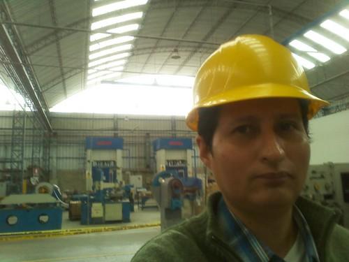Technische Besichtigung und Punktschweißen Tests in Industrial Plant
