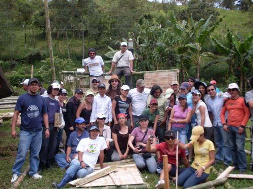 Oficinas de construção de bambu Equador