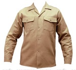 Denim shirt for work uniforms