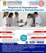 UNMSM - Specialization Program the Physiotherapy and Rehabilitation