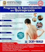 UNMSM - Specialization Program in Chiropractic