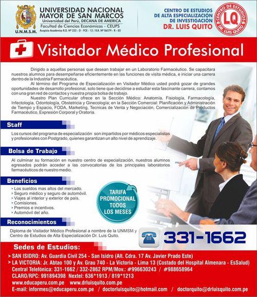 UNMSM - Visitador Médico Profesional