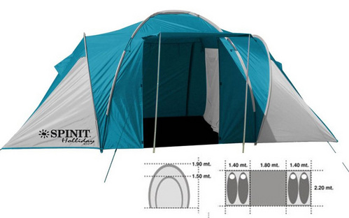 Tent Holiday 2 bedrooms and dining