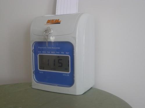 Reloj Tarjetero Convencional.