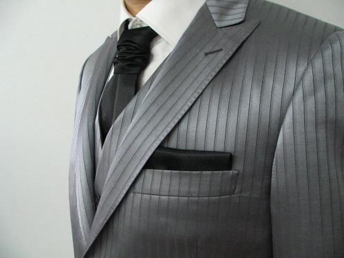 Wedding suit silk and wool Lavalliere