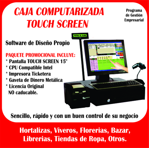 cajas computarizadas Touch Screen