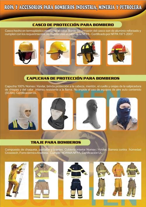 TRAJES Y ACCESORIOS PARA BOMBEROS