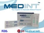 agujas needles 21G X 1/2 Medint