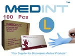 nitrile gloves powdered free Medint