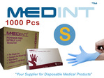 nitrile gloves powdered free Medint size S