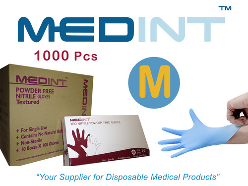 nitrile gloves powdered free Medint size M