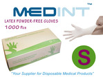 guantes de latex gloves medint powdered free gloves talla S