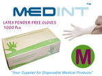 guantes de latex gloves medint powdered free gloves talla M