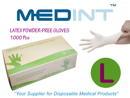 guantes de latex gloves medint powdered free gloves talla L