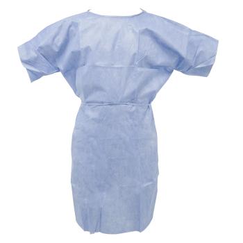 Batas de desechables para pacientes azul 40gr SMS Medint