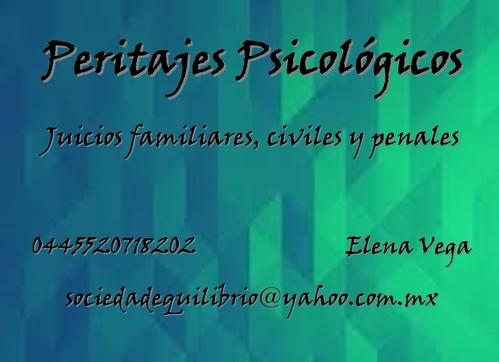 Peritajes Psicológicos Distrito Federal y Estado de México