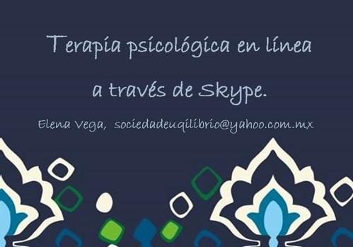 Terapia en Línea y por teléfono, México D.F.