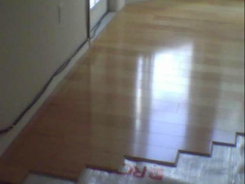 Wood Floor Installation .