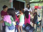 GIVING CLOTHES IN HONDURAS