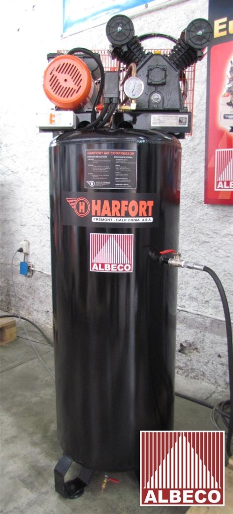 COMPRESORA INDUSTRIAL HARFORT 3-HP + Tanque 80 Glns ( 300 Litros )