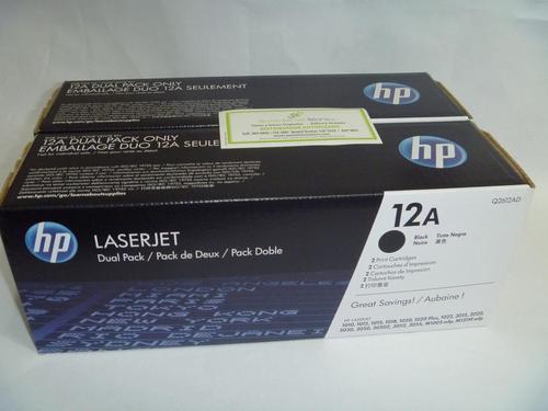Toner HP Q2612a dual pack oferta x 2 unidades, llamanos