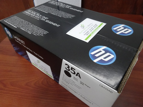 HP 35a Toner x 2 dual pack units offer free delivery in lima