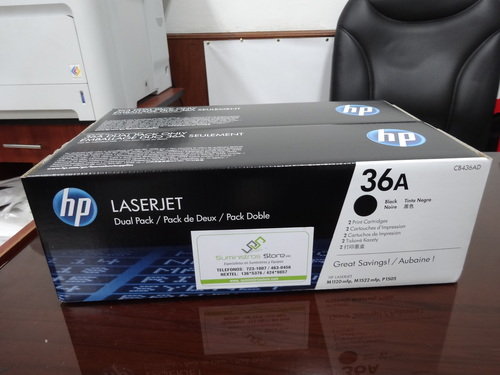 HP 36a Toner x 2 dual pack units offer free delivery in lima