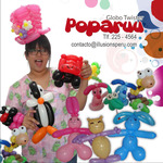 Poparuu Balloon Twister and her balloon sculptures