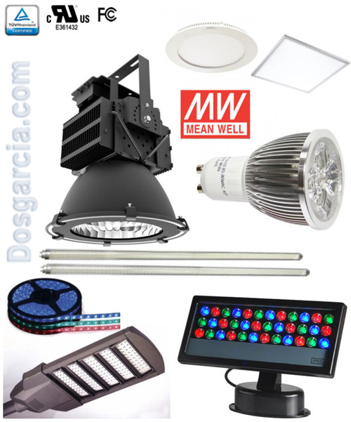 Led bombillos cintas Lámparas *Interior/Exterior * Tubos T5/T8 Panele