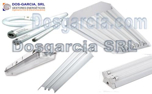 Fluorescent Tubes T8, T5 lighting fixtures lights dosgarcia.com