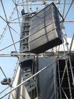 andamios multidireccional para soporte de parlantes line array aero 38