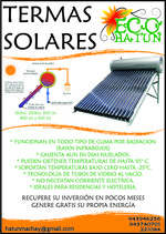 SOLAR WATER HEATER HUARAZ - NEW ECOLOGICAL PRODUCT