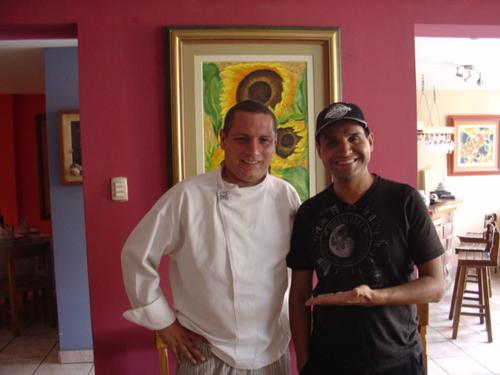 arturo  alvarez y el chef  jean pierre nadal