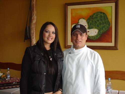 marina mora y el chef  jean pierre nadal