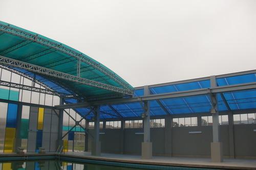 Tecto de abrir automático para piscinas aquecidas e tênis