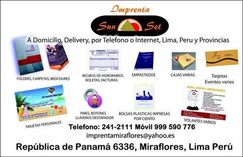 te drukken thuis , levering Lima en provincies van Peru