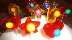 Paletas de caramelo con chicle
