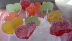Paletas de caramelo ácidas