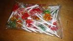 Paletas de caramelo con grageas