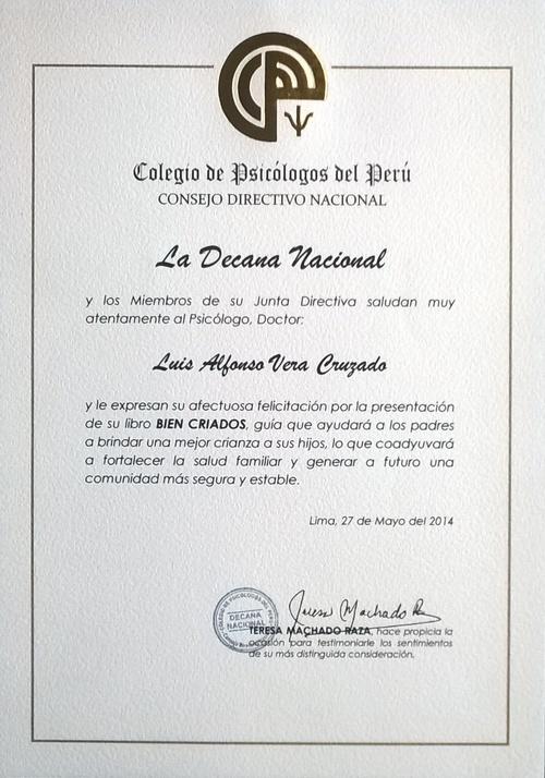 Consejo Directivo Nacional del Colegio de Psicólogos del Perú