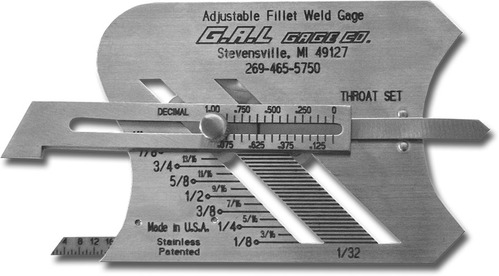 GAL BRAND WELDING GAUGE GAGE ??CO-USA Model CAT # 3