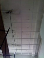 instalacion de cielo rasos con sistema baldosa