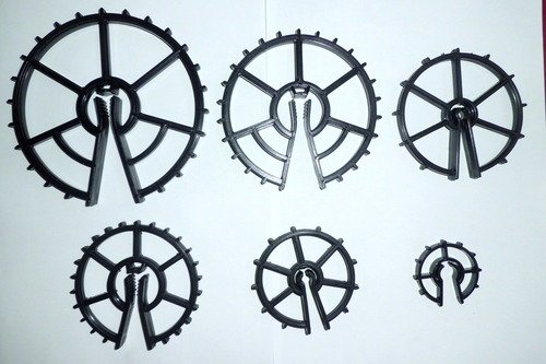 Type wheel spacers for construction