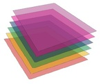 Planchas en Laminas cristal de 70x100 cmts.
