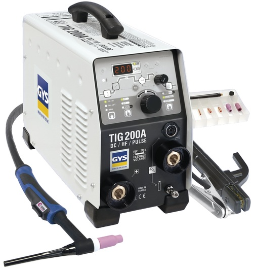 Inverted Tig Welding Machine / Mca.GYS Mod. TIG 200 DC HF FV
